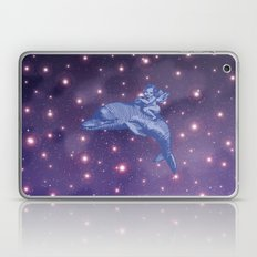 the Angel riding a dolphin in Universe  Laptop & iPad Skin
