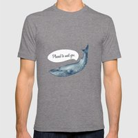 whale  Mens Fitted Tee Tri-Grey SMALL