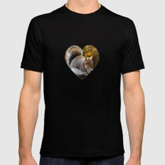 Squirrel nutkin Mens Fitted Tee Black SMALL