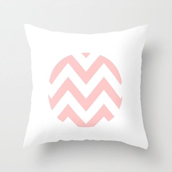 WHITE CIRCLE CHEVRON 2 Throw Pillow