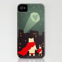 iPhone 4s & iPhone 4 Cases featuring The city needs love by Yetiland