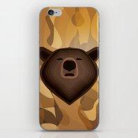 Camouflage gradient bear selfie iPhone & iPod Skin
