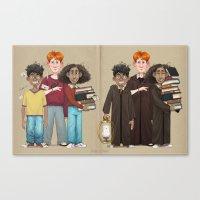 Dorky Kids Go To Private School Canvas Print