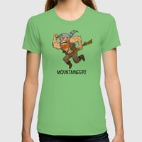 Mountaineer!  Womens Fitted Tee Grass SMALL
