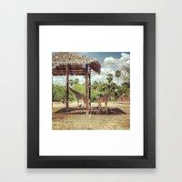 Giraffe Family Framed Art Print