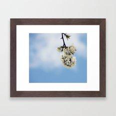 White & Blue Framed Art Print
