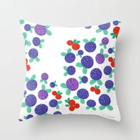 Berry Picking In Finland Throw Pillow