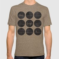 Love Laugh Live 2 (Black) Mens Fitted Tee Tri-Coffee SMALL
