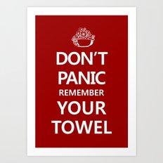 Don't Panic Art Print