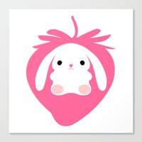 Mei the Strawberry Rabbit Canvas Print