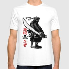 Debate Over: Pirates vs. Ninjas SMALL Mens Fitted Tee White