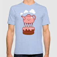 Tea With Cake Mens Fitted Tee Tri-Blue SMALL