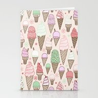Ice Cream Cones! Stationery Cards