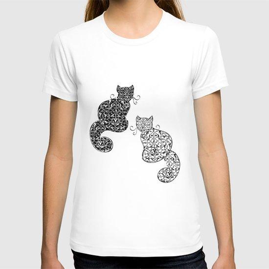 Black Cat White Cat T-shirt