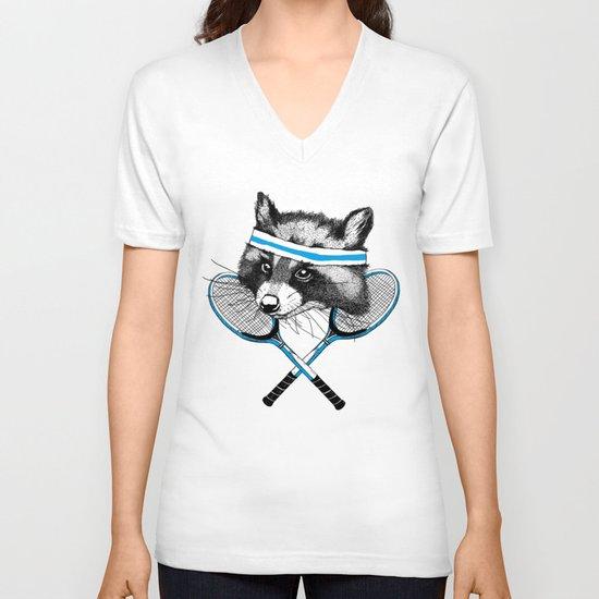 Little Raccoons Tennis Club V-neck T-shirt