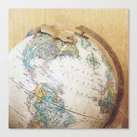 Globe-Trotting Gecko Canvas Print