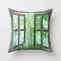 WINDOW TO NATURE Throw Pillow