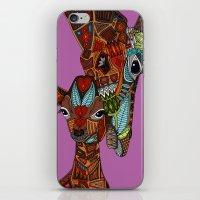 giraffe love orchid iPhone & iPod Skin