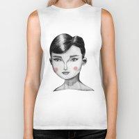 Audrey Hepburn Biker Tank