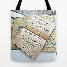 Stopping by woods - Robert frost Tote Bag