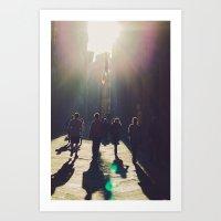 streets of siena Art Print
