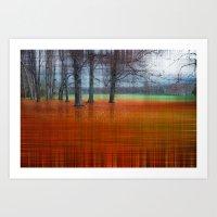 abstract autumn Art Print