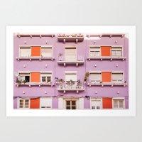 The purple building Art Print