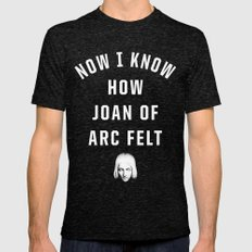 Joan Of Arc Mens Fitted Tee Tri-Black SMALL