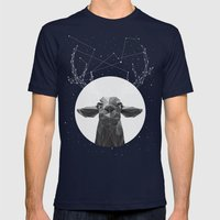 The Banyan Deer Mens Fitted Tee Navy SMALL