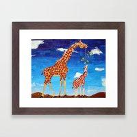 G is for Giraffe Framed Art Print