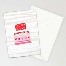 Love you more than cake Stationery Cards