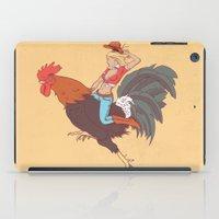 Girl Riding a Cock iPad Case