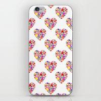 Rainbow Heart Pattern iPhone & iPod Skin