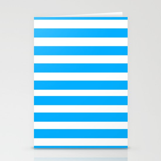 Blue Lines Stationery Card