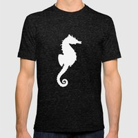 Seahorse Black Mens Fitted Tee Tri-Black SMALL