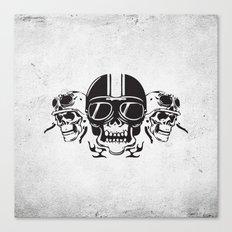 Skull Brothers Inside Canvas Print