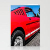1965 Red Fastback Ford M… Stationery Cards