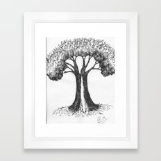 the people tree Framed Art Print