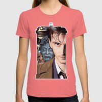 Doctor Who Womens Fitted Tee Pomegranate SMALL