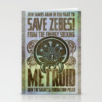 Save Zebes! Metroid Geek… Stationery Cards