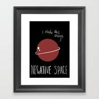 Negative Space Framed Art Print