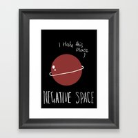Negative Space Framed Art Print