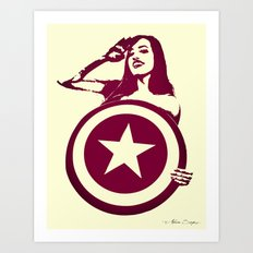 Captain Girl America Art Print