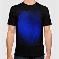 Blue Smoke, Fractal Abst… Mens Fitted Tee Black SMALL