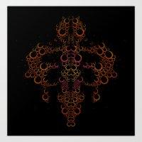 Ink Blot (Light) Art Print