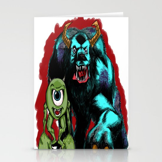Mike & Sully... Stationery Card
