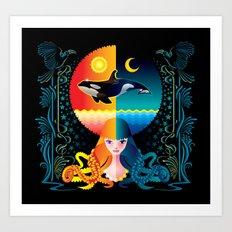 Dream - Sea Day & Night Art Print