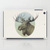 Moose head elk iPad Case