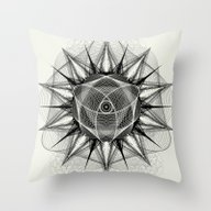 Throw Pillow featuring Styr Stryy Monochrome by Spires
