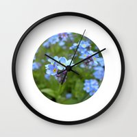 forget-me-not flowers II Wall Clock